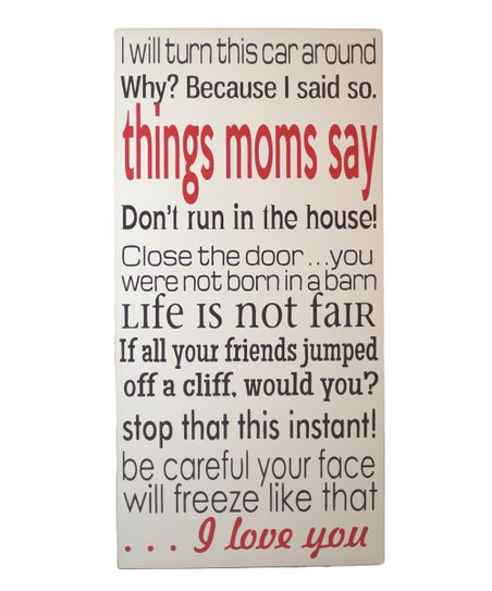 Brown & Red 'Things Moms Say' Wall Art