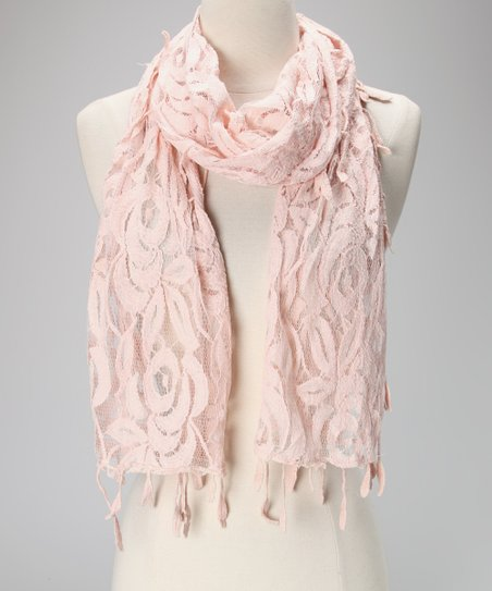 Violet Del Mar Light Pink Lace Scarf