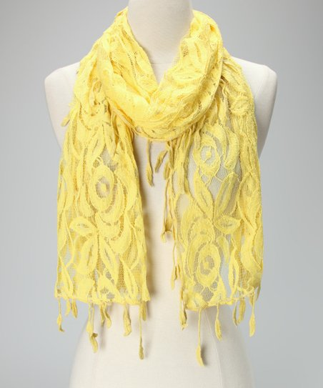 Violet Del Mar Yellow Lace Scarf
