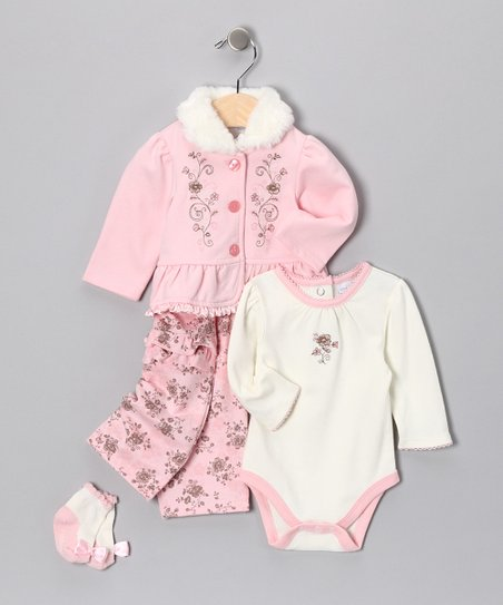 Pink Soft Floral Pants Set