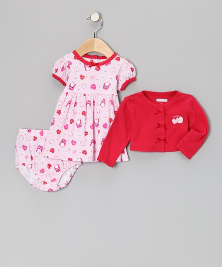 Pink Hugs & Kisses Dress Set - Infant