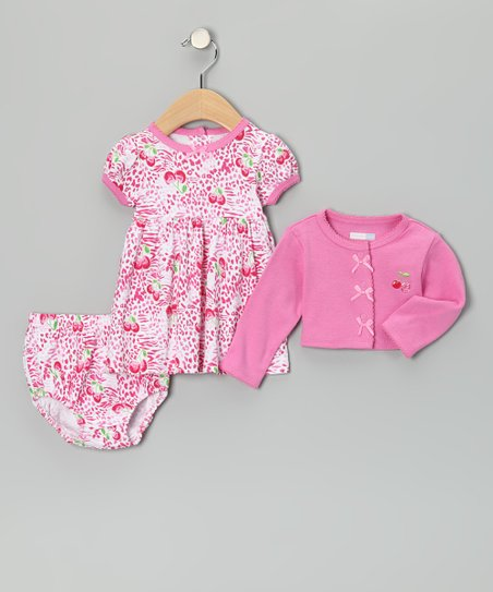Pink Cherry Dress Set - Infant