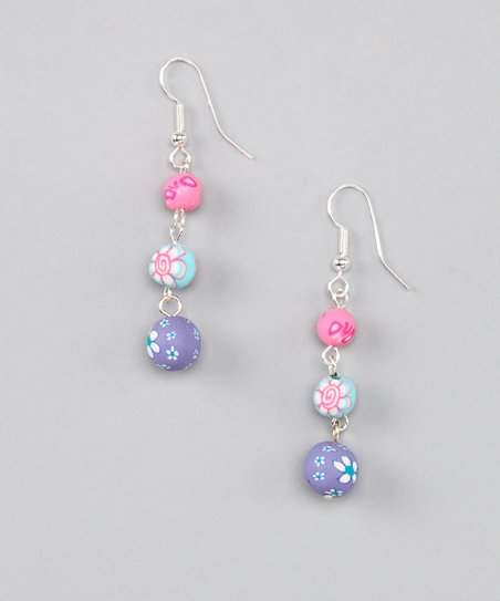 Precious Three-Bead Earrings