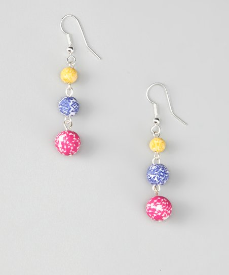 Jumble Three-Bead Earrings