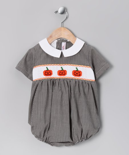 Black Jack-O'-Lantern Bubble Bodysuit - Infant