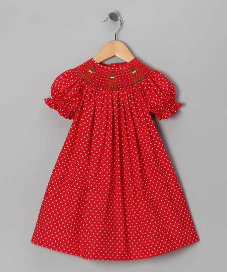 Red Gingerbread Bishop Dress - Infant, Toddler & Girls