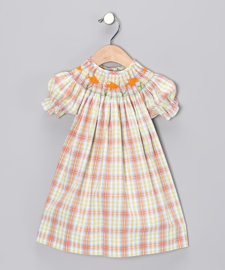 Vive la Fete Yellow Plaid Bishop Dress - Infant, Toddler & Girls