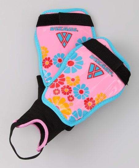 Pink & Blue Blossom Shin Guards