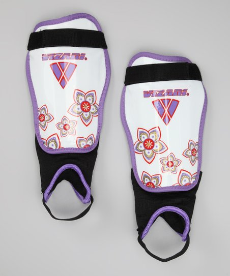 Purple & Red Magnolia Shin Guards