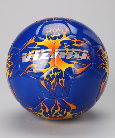 Blue & Orange Blaze Soccer Ball