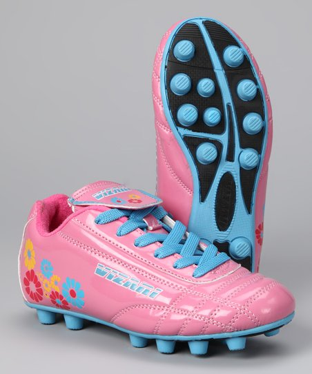 Pink & Blue Blossom Cleat - Kids
