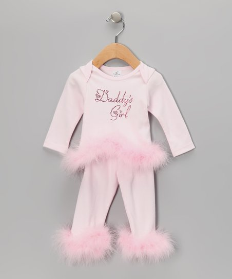 Pink 'Daddy's Girl' Tee & Pants - Infant