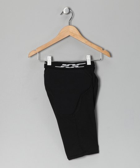 Black 6-Pocket Padded Shorts