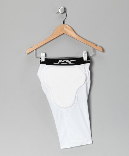 White 6-Pocket Padded Shorts
