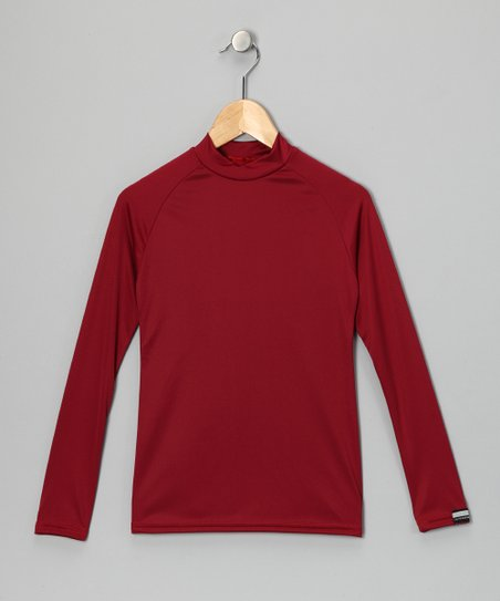 Cardinal Red Microtech Long-Sleeve Shirt
