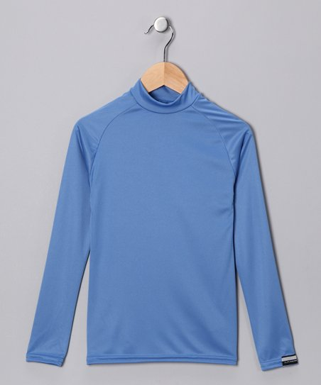 Columbia Blue Microtech Long-Sleeve Shirt