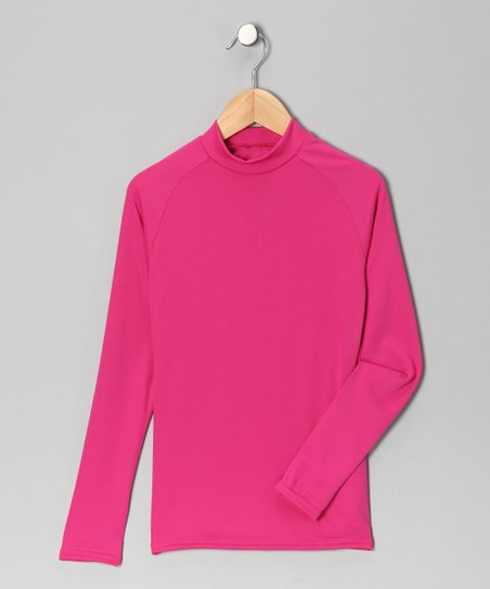 Hot Pink Microtech Long-Sleeve Shirt