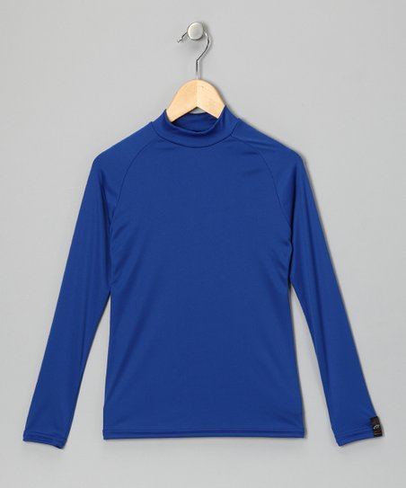 Royal Blue Microtech Long-Sleeve Shirt