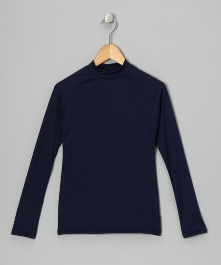 Navy Blue Microtech Long-Sleeve Shirt
