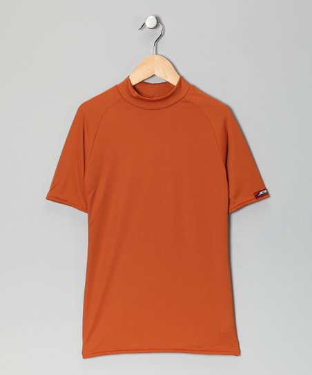 Burnt Orange Microtech Form-Fit Short-Sleeve Shirt