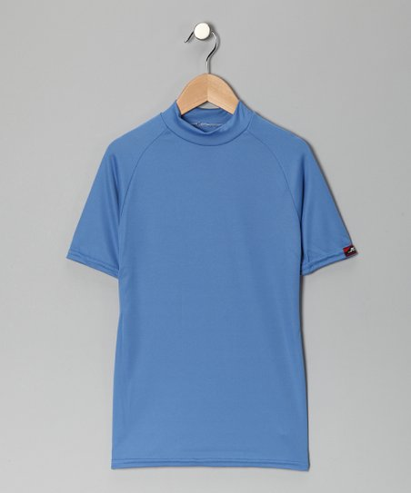 Columbia Blue Microtech Form-Fit Short-Sleeve Shirt