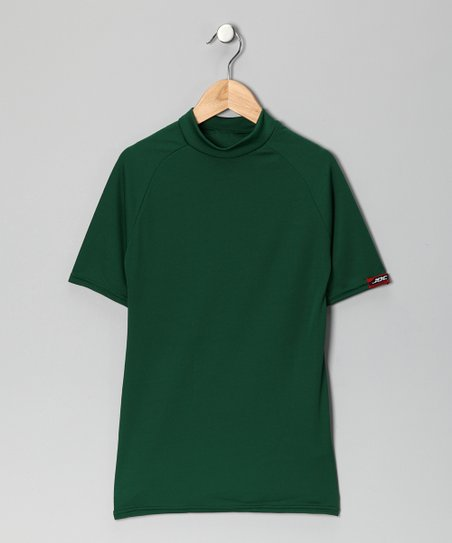 Forest Green Microtech Form-Fit Short-Sleeve Shirt