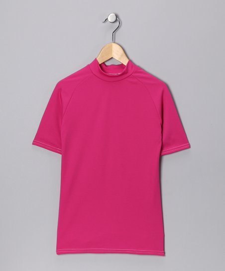 Hot Pink Microtech Form-Fit Short-Sleeve Shirt
