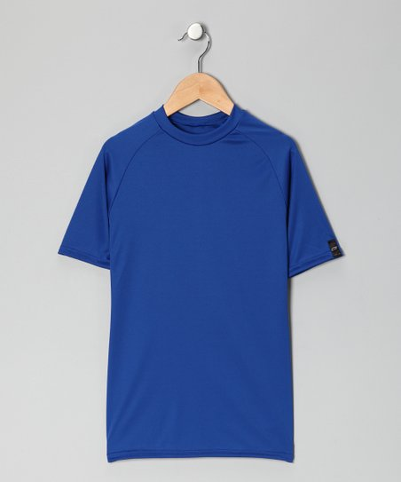 Royal Blue Microtech Form-Fit Short-Sleeve Shirt