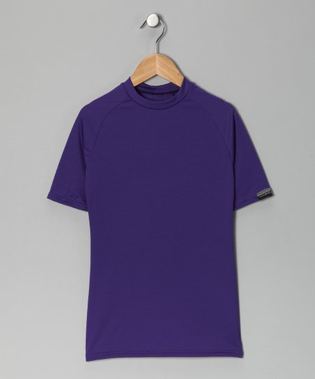 Purple Microtech Form-Fit Short-Sleeve Shirt