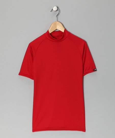 Scarlet Microtech Form-Fit Short-Sleeve Shirt