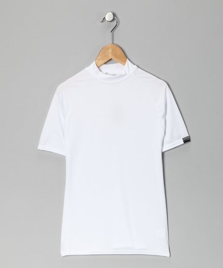 White Microtech Form-Fit Short-Sleeve Shirt