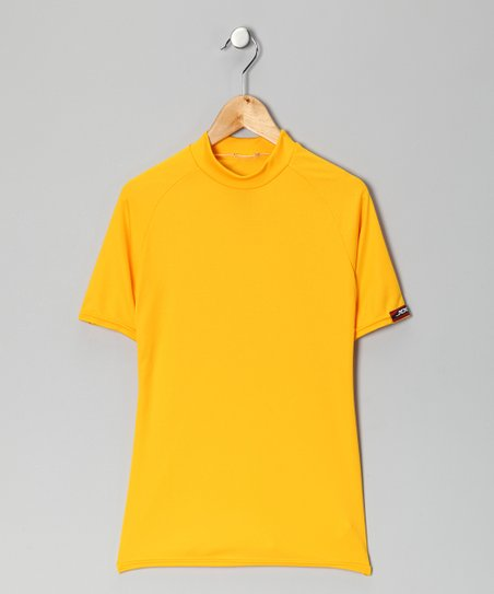 Yellow Gold Microtech Form-Fit Short-Sleeve Shirt