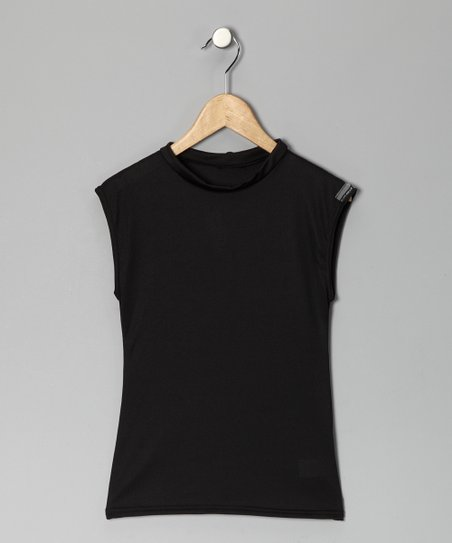 Black Microtech Compression Sleeveless Top