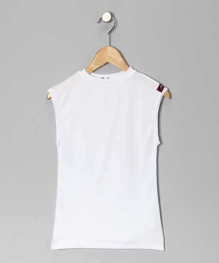 White Microtech Compression Sleeveless Top