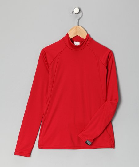 Red Arctic Microtech Long-Sleeve Shirt
