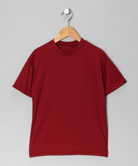 Cardinal Red Microtech Loose Short-Sleeve Shirt