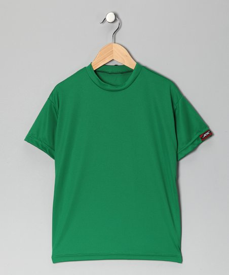 Kelly Green Microtech Loose Short-Sleeve Shirt