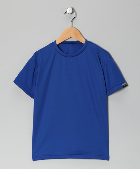 Royal Blue Microtech Loose Short-Sleeve Shirt