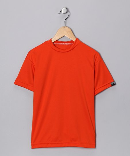 Orange Microtech Loose Short-Sleeve Shirt