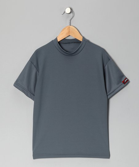 Silver Microtech Loose Short-Sleeve Shirt