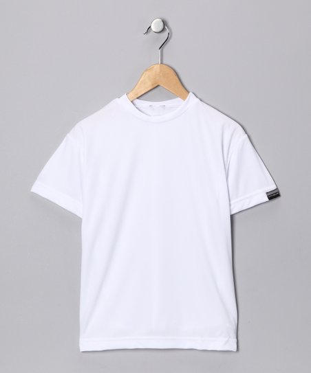 White Microtech Loose Short-Sleeve Shirt