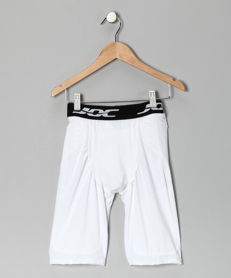 White Pocket Football Girdle Shorts