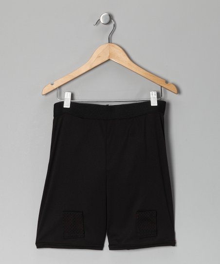 Black Hockey Joc Shorts