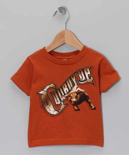 Orange Bull 'Cowboy Up' Tee - Toddler & Boys