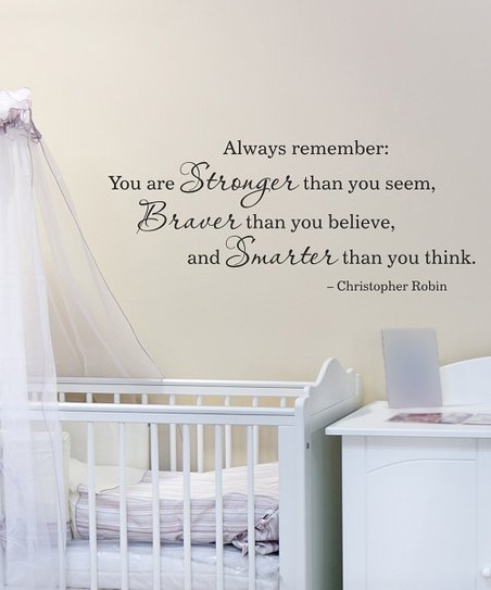 Belvedere Designs Black 'Stronger Braver Smarter' Wall Quote
