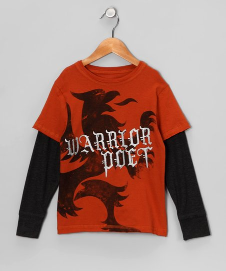 Rust 'Warrior Poet' The Griffin Layered Tee - Toddler & Boys