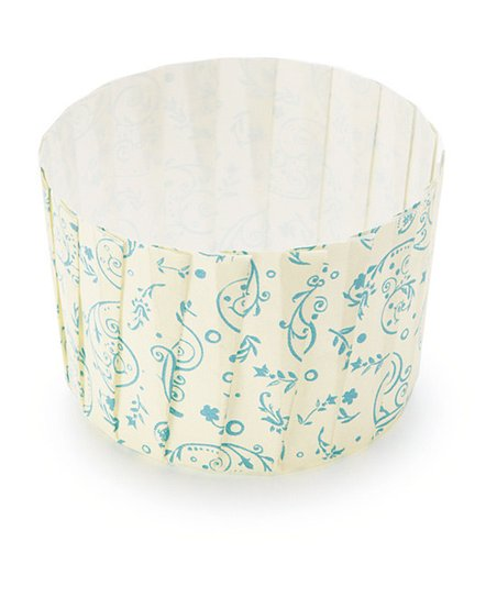 Blue Blossom Pleated Baking Cup - Set of 12