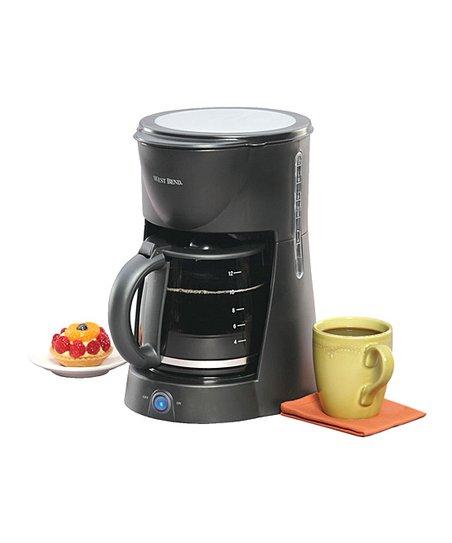 Black 12-Cup Manual Coffee Maker