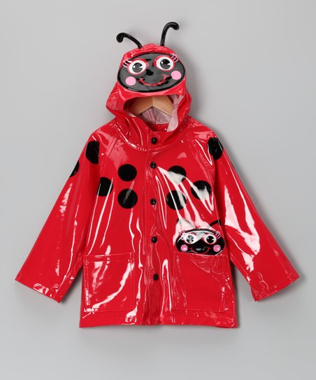 Red Ladybug Raincoat - Toddler & Kids