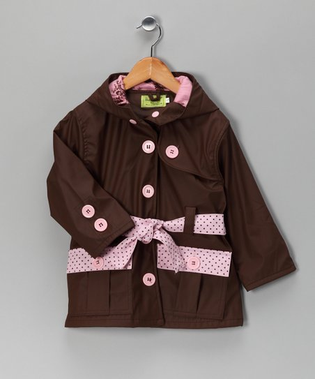 Brown Frenchy French Raincoat - Toddler & Girls